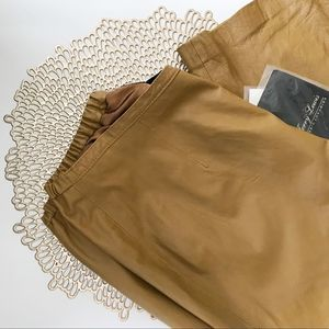 NWT Jerry Lewis tan leather pants - size 12P